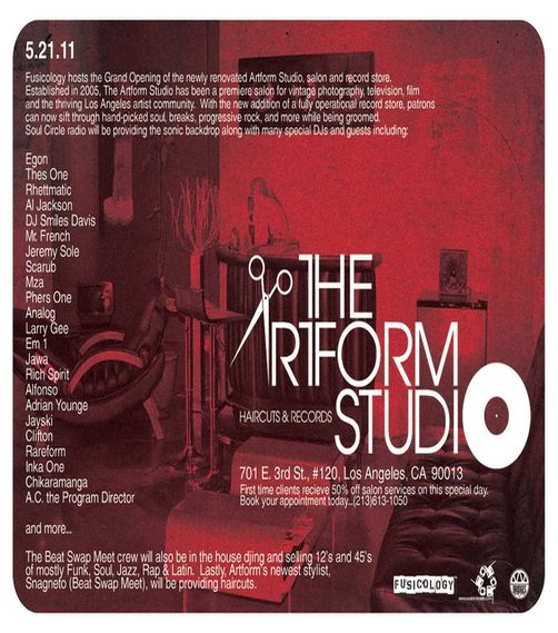 5.21.2011 THE GRAND OPENING OF THE ARTFORM STUDIO Salon & Record Store in Little Tokyo, Los Angeles