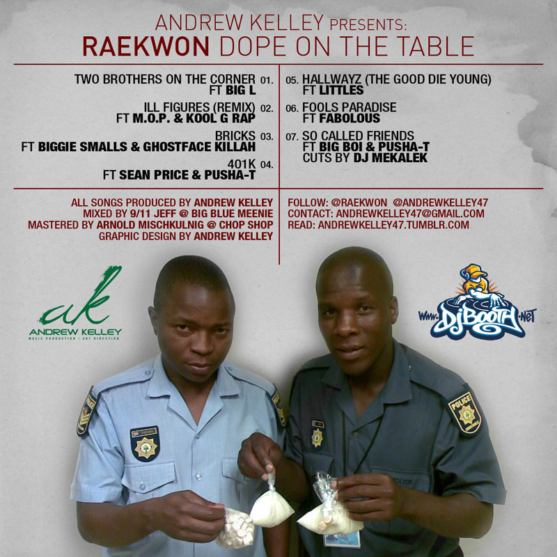 """Andrew Kelley Presents: Raekwon """"Dope on the Table"""" EP"""
