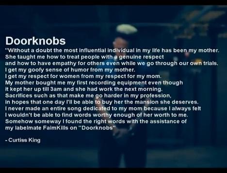Curtiss King - Doorknobs ft. Faimkills [video]