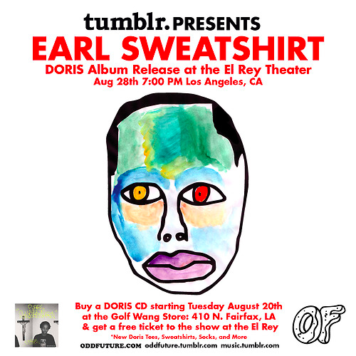Earl Sweatshirt - Doris [album stream] + Doris Album Release Party @ El Rey Theater