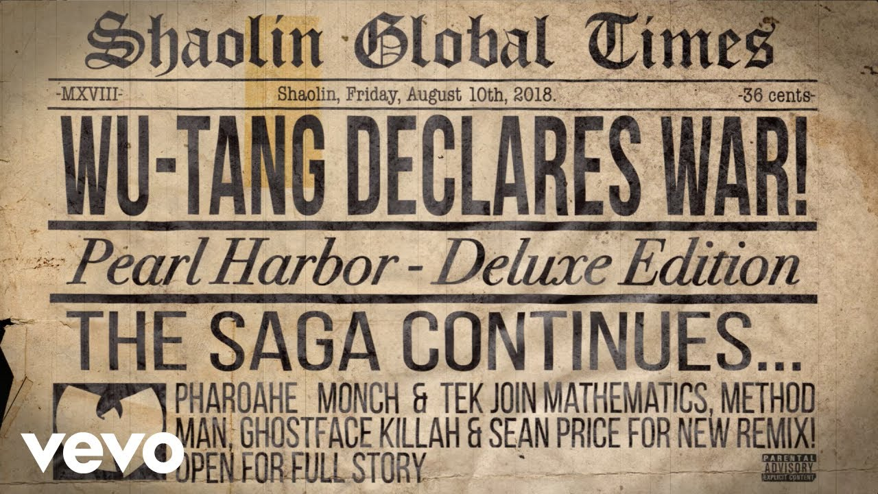 Wu-Tang Clan - Pearl Harbor (REMIX) feat. Mathematics, Method Man, Ghostface Killah, Sean Price, Pharoahe Monch and Tek [audio]
