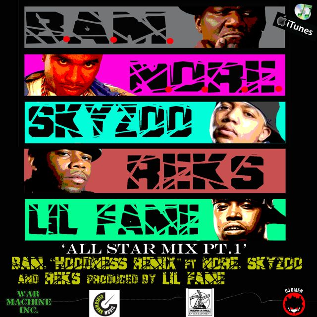 "B.A.M. ""Hoodness (All-Star remix)"" ft. N.O.R.E., Skyzoo, REKS **mp3**"