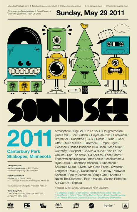 Soundset 2011 Announces Full Lineup Including Atmosphere, Big Boi & De La Soul