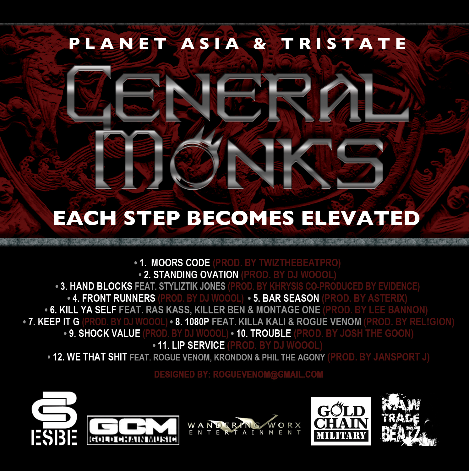 General Monks (Planet Asia & TriState) - Each Step Becomes Elevated **Album**