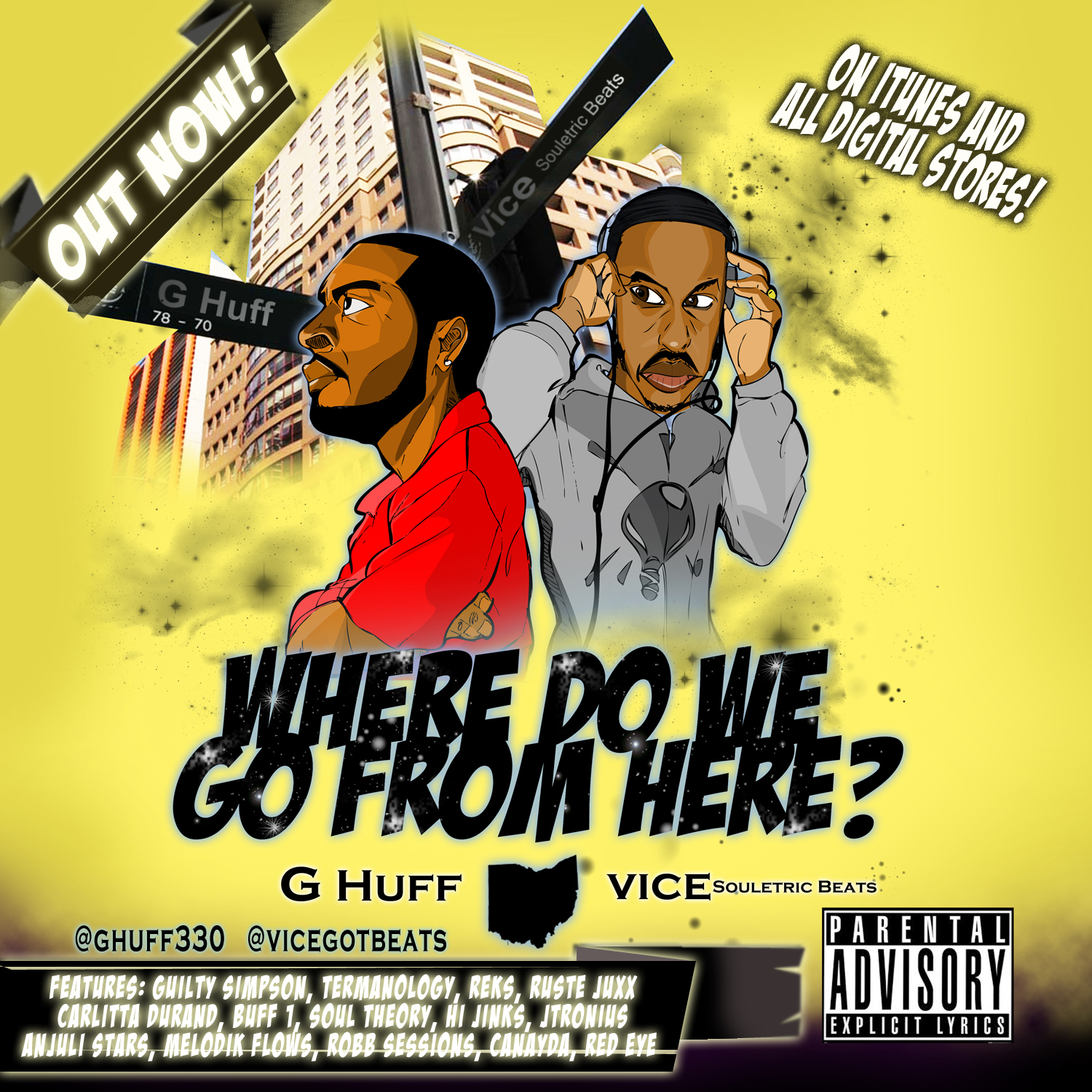 "G.Huff & Vice ""Pure Genius"" ft Reks, Hi Jinks & Buff 1 **Audio** 