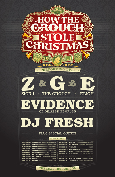 How The Grouch Stole Christmas 2011 w/ Zion I, The Grouch, Eligh, Evidence & Special Guests