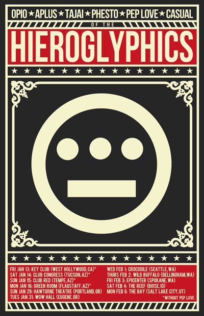 Hieroglyphics Tour: Souls of Mischief, Casual, and Pep Love 2012
