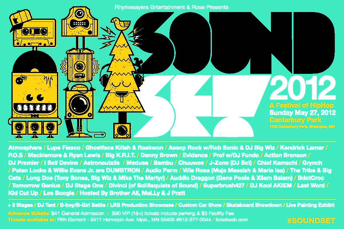 Soundset 2012 Announces Line Up | Atmosphere, Lupe Fiasco, Kendrick Lamar, Big K.R.I.T., Danny Brown, Action Bronson & many more May 27th 2012