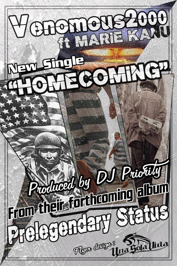 Venomous2000 & DJ Priority - Homecoming ft. Marie Kanu [audio]