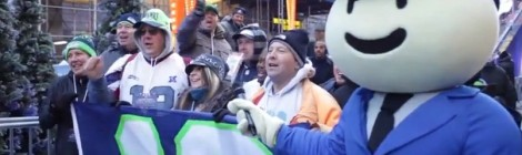 The Duck Down Man: Reporting from Super Bowl BLVD [video]