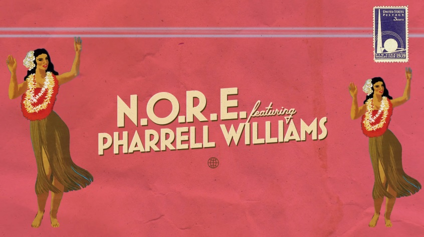 N.O.R.E. - Uno Más ft. Pharrell Williams [lyric video]