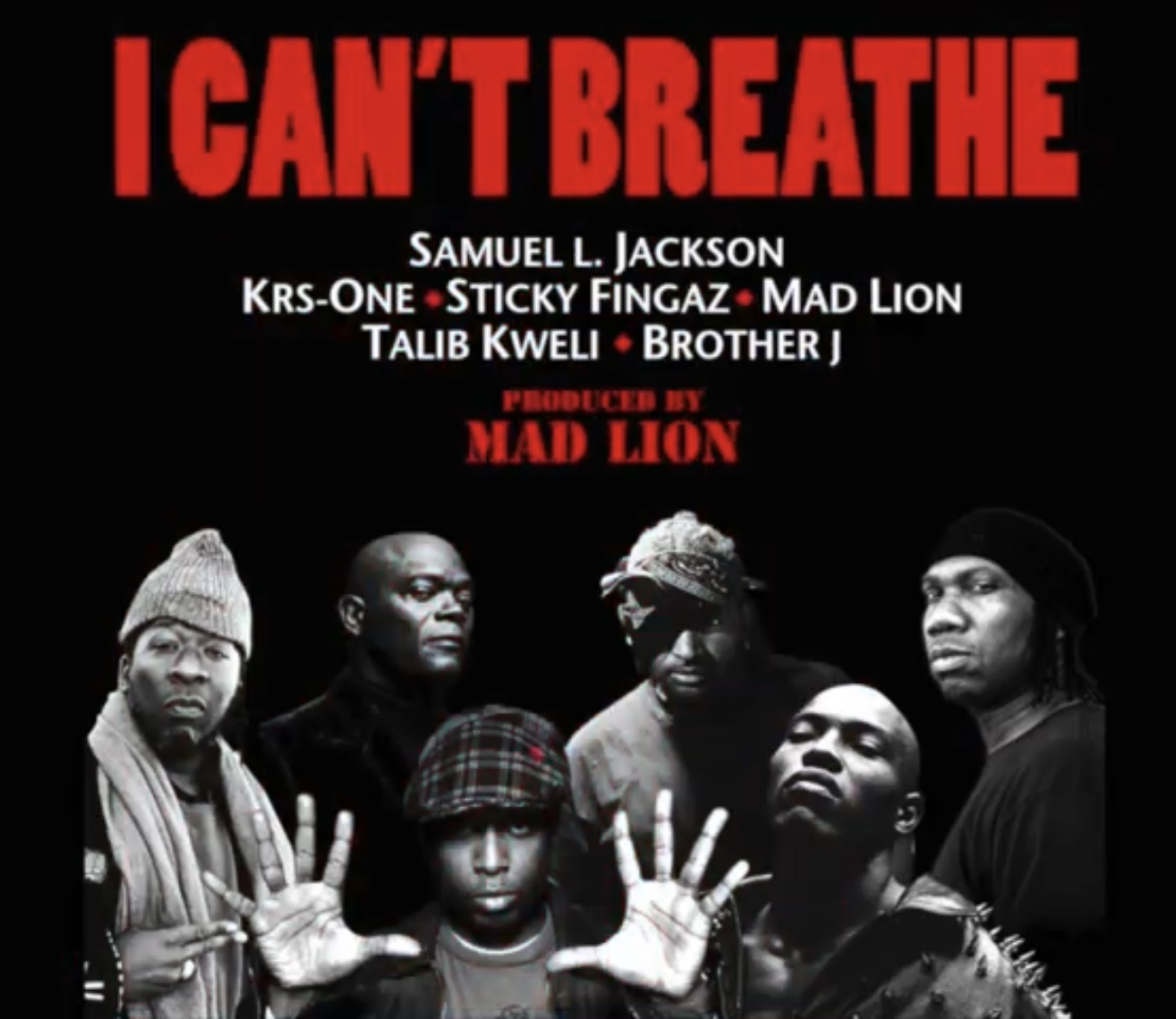 Sticky Fingaz - I Can't Breathe feat. Sam Jackson, Talib Kweli, KRS One, Brother J & Mad Lion [Video]